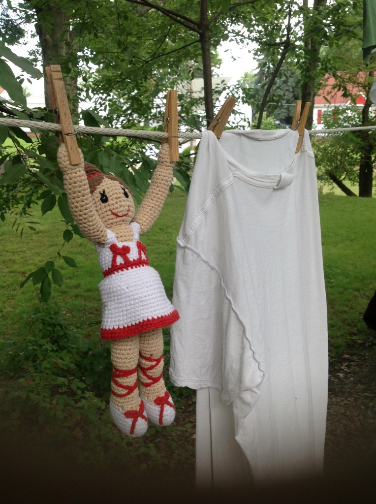 Pebble Ballerina Doll drying out.