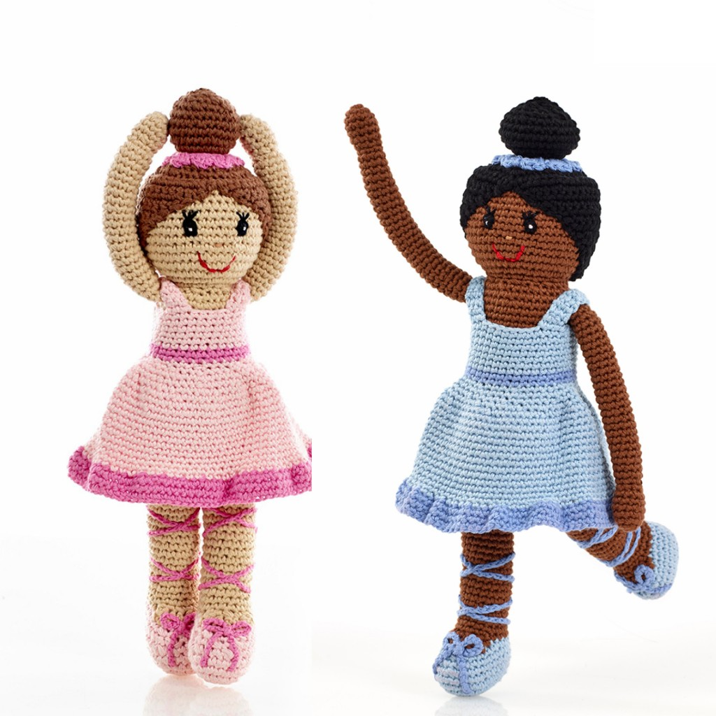 Black and White Ballerina Dolls by Pebble