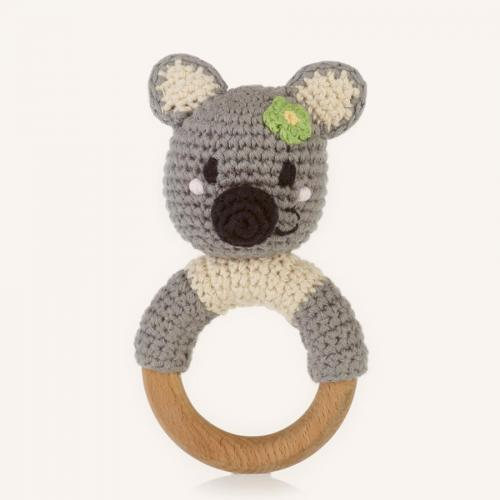 Wooden Teething Ring Rattle Koala